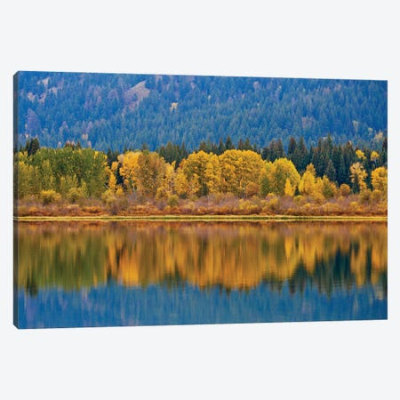 Autumns Reflection Canvas Print #SUV336} by Susan Vizvary Canvas Artwork