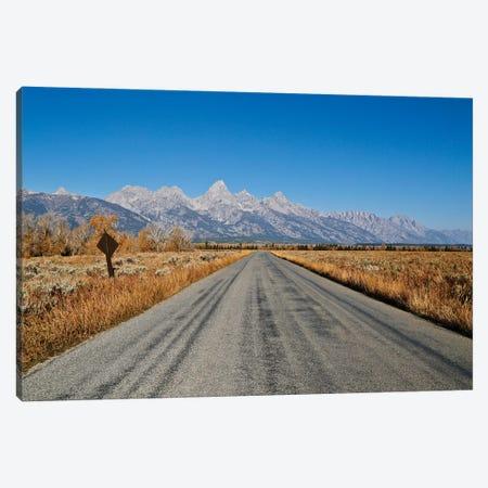 Open Road Tetons Canvas Print #SUV371} by Susan Vizvary Canvas Print