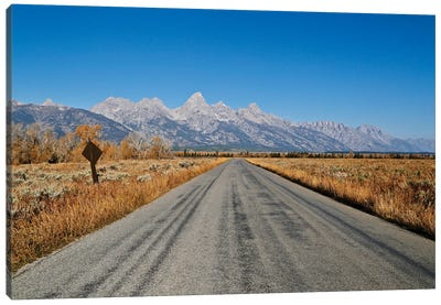 Open Road Tetons Canvas Art Print