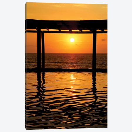 Gazebo Sunset In Mexico Canvas Print #SUV37} by Susan Vizvary Canvas Wall Art