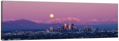 Full Moon Over Los Angeles Canvas Art Print