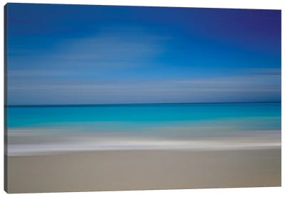 Turks Beach Blur Canvas Art Print