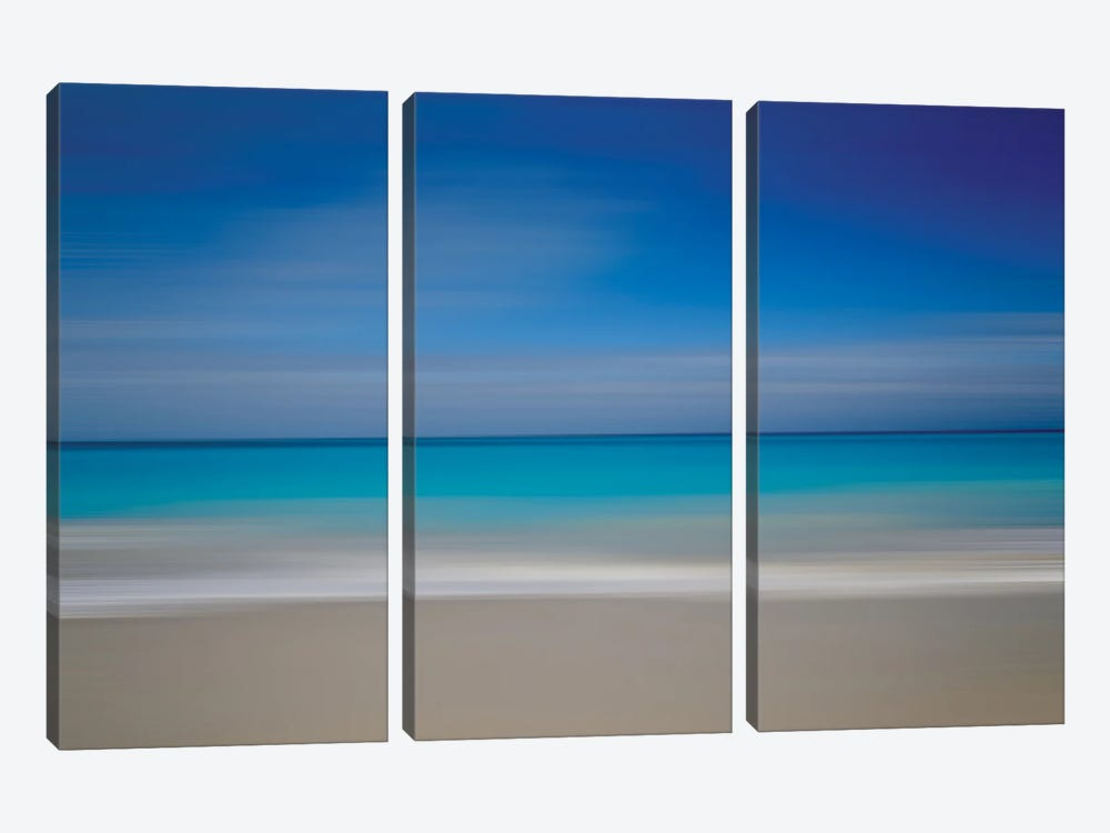Turks Beach Blur by Susan Vizvary 3-piece Canvas Wall Art