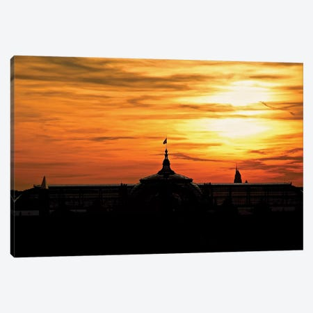 Grand Palais At Sunset Canvas Print #SUV39} by Susan Vizvary Art Print