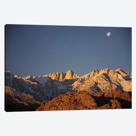 Alabama Hills Moonrise Canvas Print #SUV3} by Susan Vizvary Canvas Wall Art