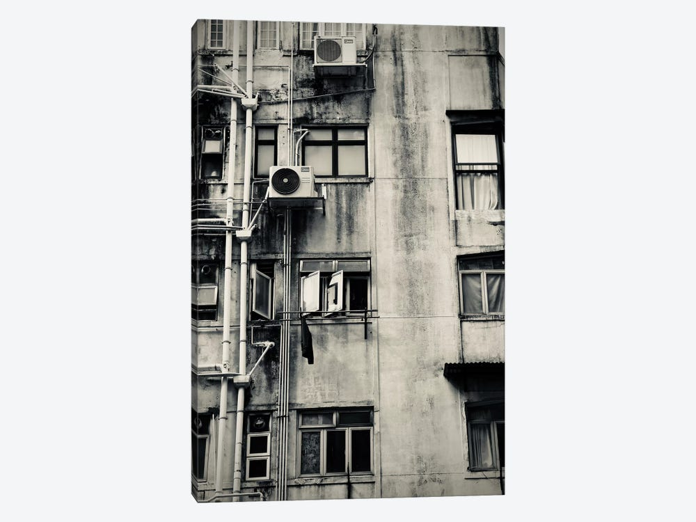 Hong Kong Building In Black&White by Susan Vizvary 1-piece Canvas Art