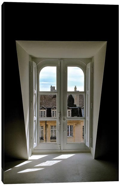 Looking Out To Paris Canvas Art Print