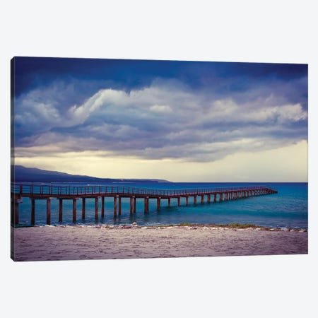 Mexico Pier Canvas Print #SUV61} by Susan Vizvary Canvas Art