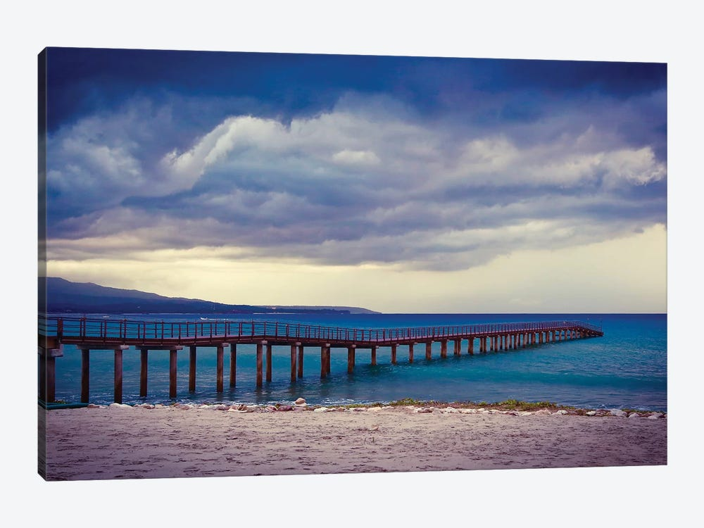 Mexico Pier by Susan Vizvary 1-piece Canvas Wall Art