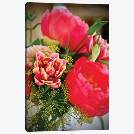 Montecito Peonies Canvas Print #SUV63} by Susan Vizvary Canvas Artwork