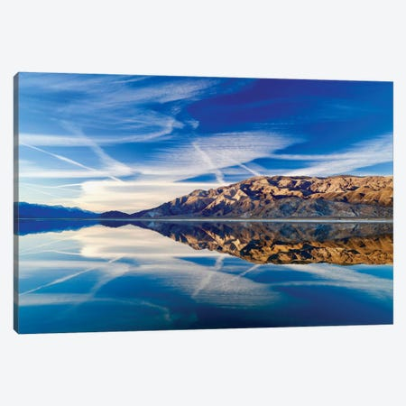 Owens Lake Reflection Canvas Print #SUV68} by Susan Vizvary Canvas Artwork