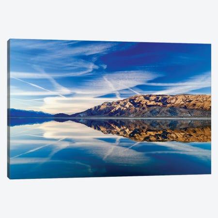 Owens Lake Reflection Canvas Print #SUV68} by Susan Vizvary Canvas Artwork
