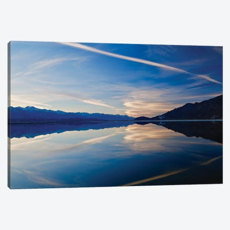 Owens Lake Sunset, Horizontal 3-Piece Canvas #SUV70} by Susan Vizvary Canvas Art Print