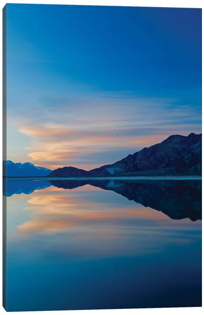 Owens Lake Sunset, Vertical Canvas Art Print