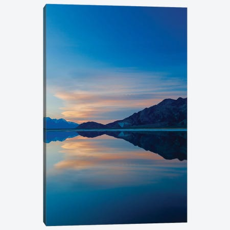 Owens Lake Sunset, Vertical 3-Piece Canvas #SUV71} by Susan Vizvary Canvas Print