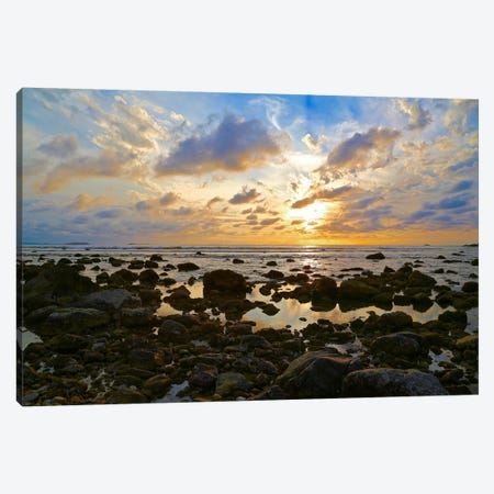 Punta Mita Sunset, Blue 3-Piece Canvas #SUV76} by Susan Vizvary Canvas Artwork