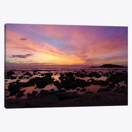 Punta Mita Sunset, Pink Canvas Print #SUV77} by Susan Vizvary Canvas Wall Art