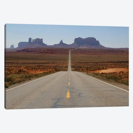 Road To Monument Valley Canvas Print #SUV79} by Susan Vizvary Art Print