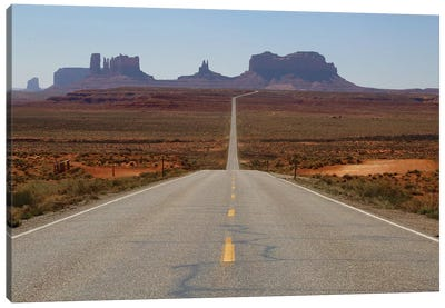 Road To Monument Valley Canvas Art Print