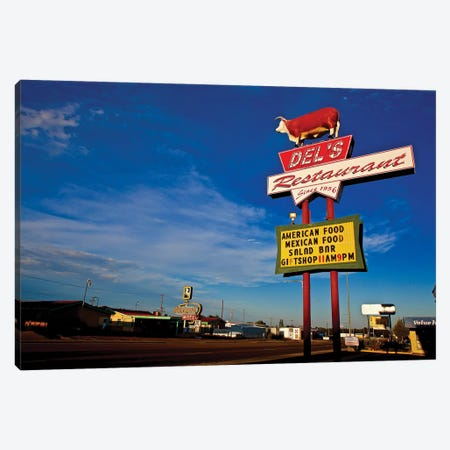 Route 66 Restaurant Canvas Print #SUV81} by Susan Vizvary Canvas Artwork