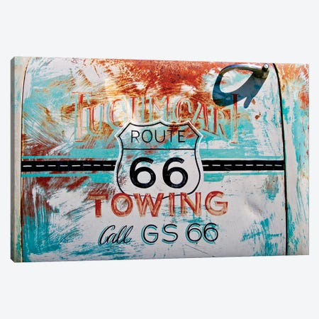 Route 66 Towing Canvas Print #SUV83} by Susan Vizvary Canvas Artwork