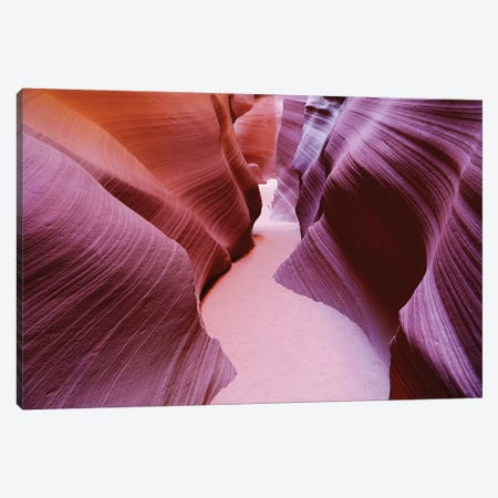 Slot Canyon Curves Canvas Print #SUV88} by Susan Vizvary Canvas Wall Art