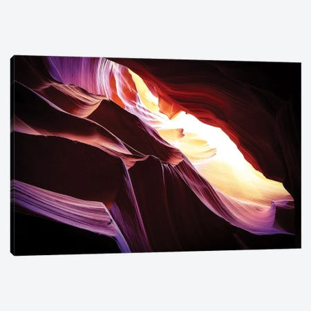Slot Canyons Ceiling Glow Canvas Print #SUV91} by Susan Vizvary Canvas Print