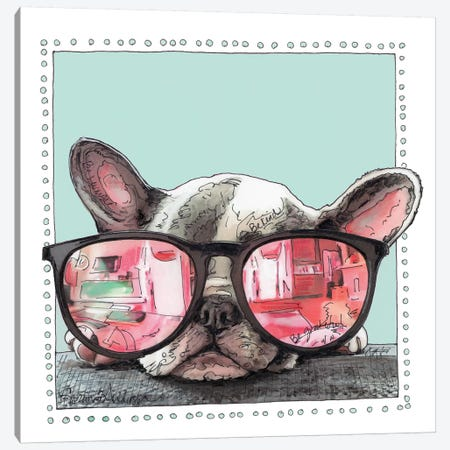 Frenchie Life Canvas Print #SUZ101} by Suzanne Anderson Canvas Wall Art