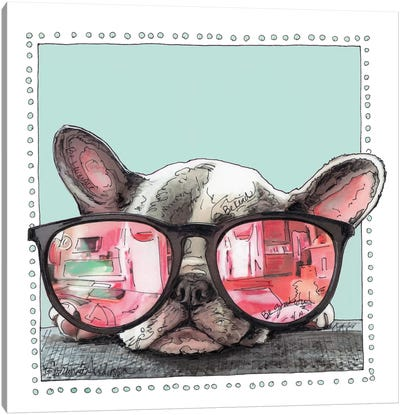 Frenchie Life Canvas Art Print