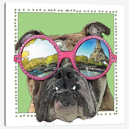 Morty In Paris Canvas Print #SUZ103} by Suzanne Anderson Canvas Art