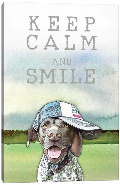 Keep Calm And Smile With Calvin Canvas Art Print