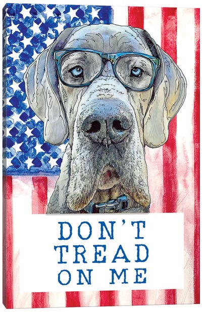 Don't Tread On Me With Maverick The Great Dane Canvas Art Print