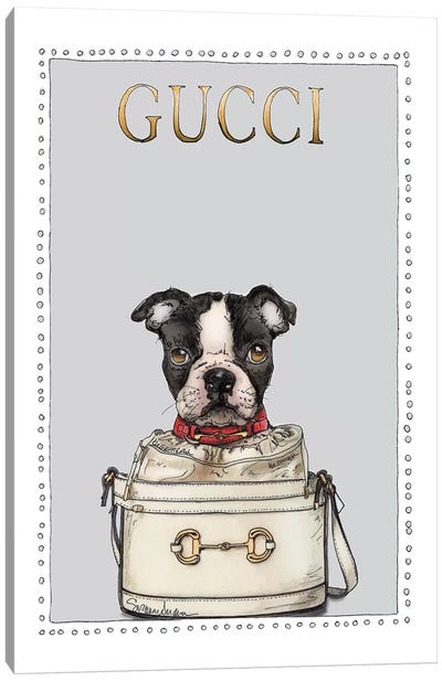 Gigi The French Puppy Canvas Art Print
