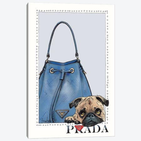 Pipa The Pug Puppy Canvas Print #SUZ114} by Suzanne Anderson Canvas Artwork