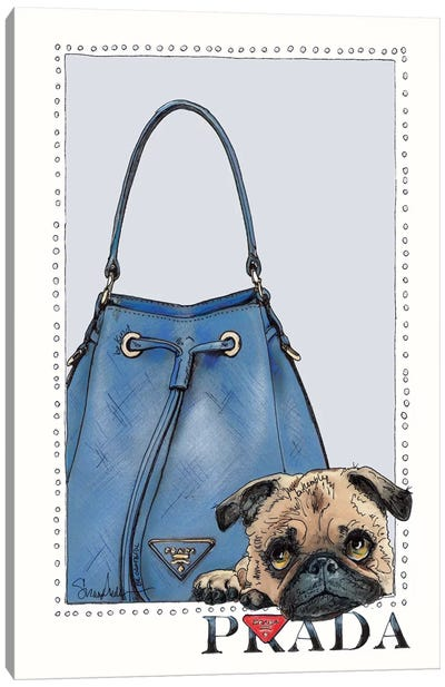 Pipa The Pug Puppy Canvas Art Print