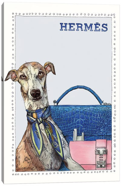 Grace The Greyhound Canvas Art Print