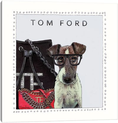 Tom The Jack Russell Canvas Art Print