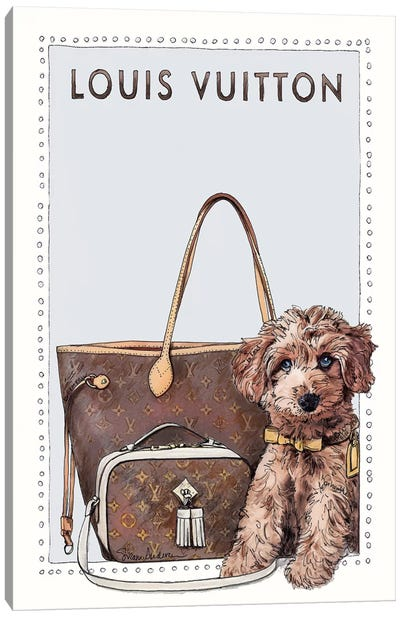 Louis The Cavapoo Canvas Art Print