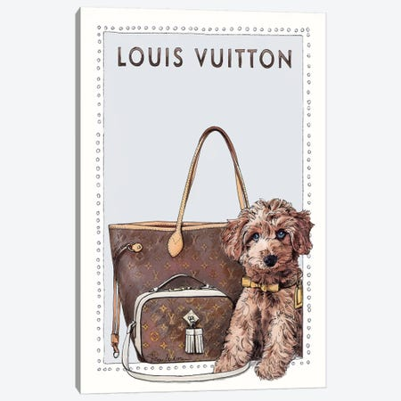 Louis The Cavapoo Canvas Print #SUZ117} by Suzanne Anderson Canvas Artwork