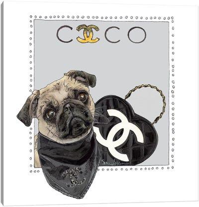 Cocao The Pug Canvas Art Print