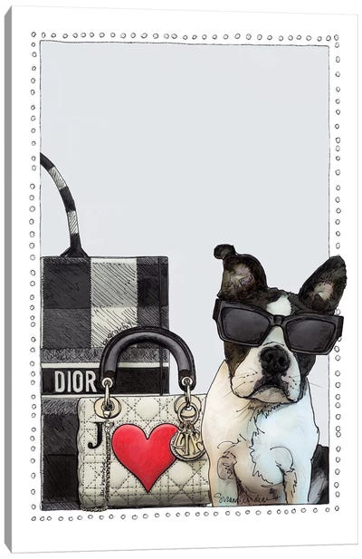 Darling The Frenchie Puppy Canvas Art Print