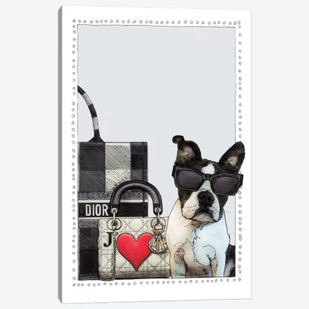 Darling The Frenchie Puppy Canvas Print #SUZ119} by Suzanne Anderson Canvas Art Print