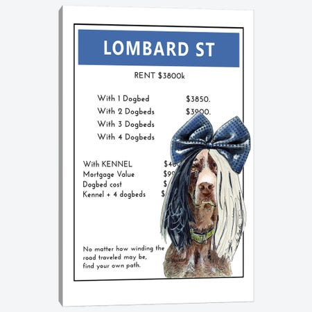 German Short Haired Pointer Aka Sia On Lombard Street Canvas Print #SUZ128} by Suzanne Anderson Canvas Art