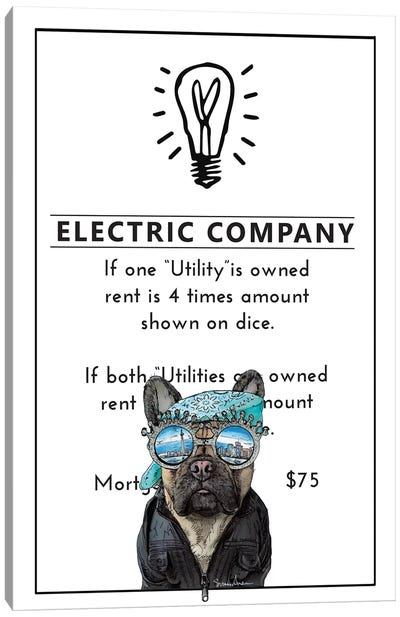 French Bulldog With Great Ideas Canvas Art Print