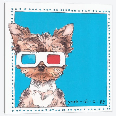 Twiggy The Yorkie York-ol-o-gy Canvas Print #SUZ13} by Suzanne Anderson Art Print