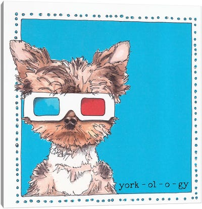 Twiggy The Yorkie York-ol-o-gy Canvas Art Print