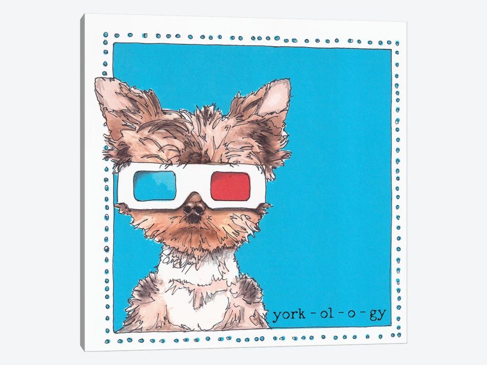 Twiggy The Yorkie York-ol-o-gy by Suzanne Anderson 1-piece Art Print