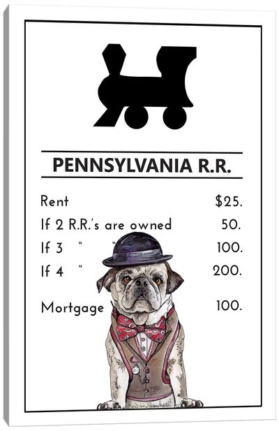 Pug Life At The Pennsylvania Railroad Canvas Art Print