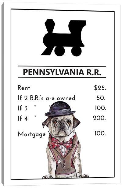 Pug Life At The Pennsylvania Railroad Canvas Art Print