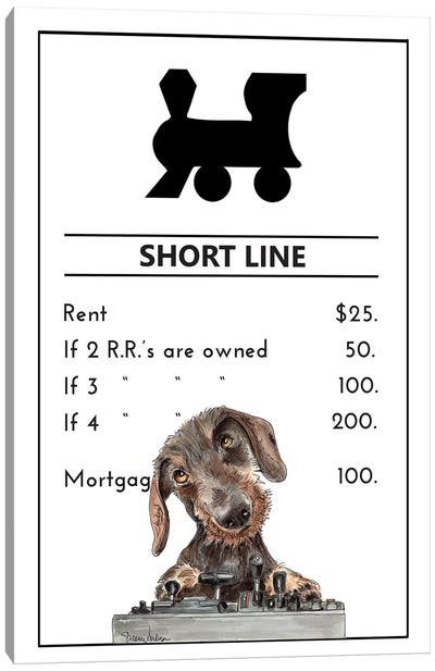 Miniature Dachshund Owning The Short Line Canvas Art Print